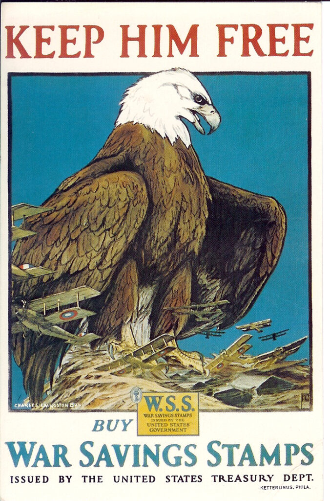 usa war bonds keep him free eagle