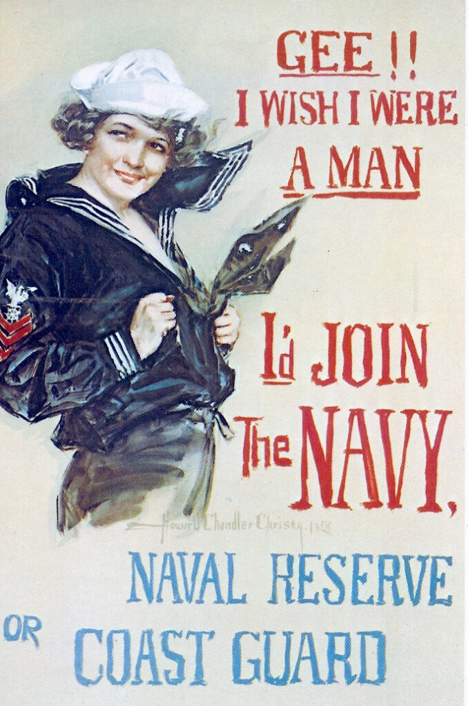 usa war poster navy women